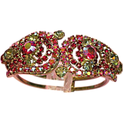 Juliana D&E Designer Irresistible Rhinestones Clamper Bracelet