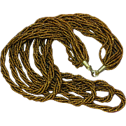 Copper  Seed Bead Twisted 5 Strand Necklace