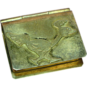 Vintage Sterling Silver  Hand Crafted Match Box Stamp Holder