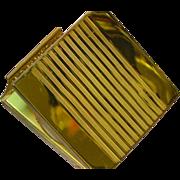 Vintage Gold Repousse Square Compact Pill Box Misc Storage