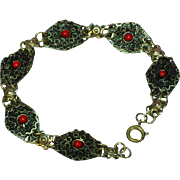 Gorgeous Vintage Etruscan 800 Silver Italian Link Bracelet
