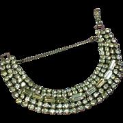 Wide Clear Rhinestone Bracelet Bling O Rama