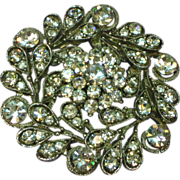 Rhinestones Clear Sensational Large Pin Brooch Necklace Pendant