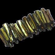 Abalone Golden Colors Stick  Stretch Bracelet
