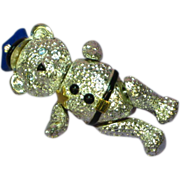 Napier Vintage Articulated Police Teddy Bear Pin Brooch