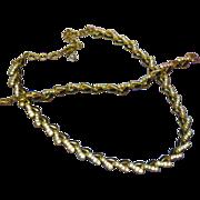 Swarovski Crystal Enamel Black and Gold Necklace Bracelet Set