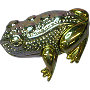 Liz Claiborne Detailed Goldtone and Silvertone Frog Pin Brooch