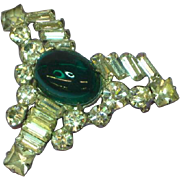 Vendome Jelly Belly Cabochon Rhinestone Pin Brooch