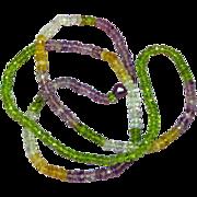 Gemstones Faceted Citrine Amethyst Peridot Crystal Quartz Aquamarine All Semi-Precious Faceted