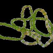 """SALE Gemstones Faceted Citrine  Peridot Crystal Quartz  All Semi-Precious Faceted 28"""" Nec"""