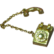 Avon Goldtone Telephone Charm or Pendant