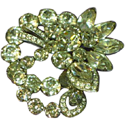 SALE Exquisite Eisenberg Clear Crystal Vintage Rhinestones Brooch Pin