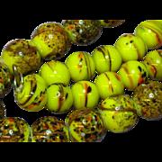 SALE Millefiori Italian Glass African Trade Bead Necklace