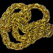 Napier Signed Bold Gold Tone Multi Link Big Necklace