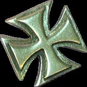Unisex Maltese Cross Iron Cross Sterling Silver Charm Pendant