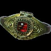 Gemstones Almandine Garnet Sterling Silver 925 Poison Compartment Ring