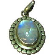 SALE Gemstones Natural Labradorite 925 Sterling Silver Necklace Pendant