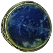 Gemstones Arts & Crafts Sterling Silver Genuine Lapis Lazuli Ring