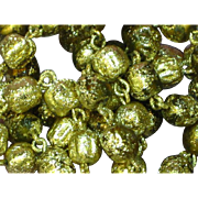 Gold Foil Coated Glass Beads Necklace