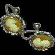 Cameo Screw Back Shell Cameo Earrings