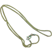 Sterling Silver Marked 925 Italy Unusual Link Chain Necklace