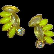 Juliana Verified Yellow Lemon Citrine Clip Earrings