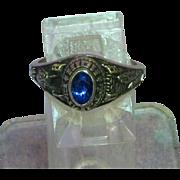 Jostens ©LTM High School Ring with Blue Stone Emmett High and Trisha Enswinger