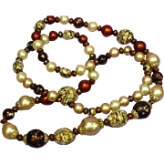 Vendome  Designer Crystal Pearl Sugar Bead Necklace