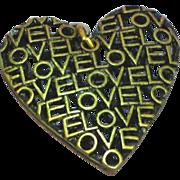 Big Love Brass Heart Necklace Pendant