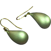 Alexis Bittar Frosted Carved Pierced Drop Dangle Earrings