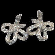 Fabulous 40's Rhinestone Earrings