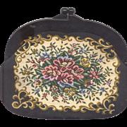 Japan Tapestry Handbag with Lucite Frame