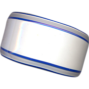 French Layered Lucite Cuff Bracelet