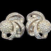 Fabulous 40's Rhinestone Clip on Earrings