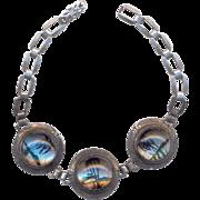 Vintage Sterling Butterfly Wing Bracelet