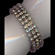 Vintage Stretch Rhinestone Bracelet marked Made in Japan