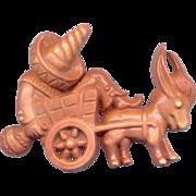 Early Plastic Sombrero and Donkey Pin
