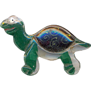 Vintage Early Plastic Lucite Turtle Brooch
