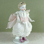 """4"""" S&H or ABG Early White with Pink Luster Boots ~ All Bisque Doll"""