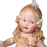 """REDUCED 9"""" Gbr. Heubach """"Girl with 3 Bows"""" ~ Rare & Wonderful All Bisque Doll!"""