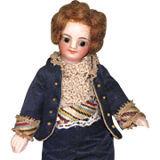 "SALE 5 1/4"" French Mignonette Gentleman ~ All Original All Bisque Doll"