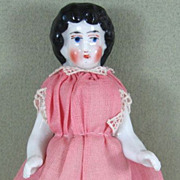 """SOLD 3 3/4"""" Antique Frozen Charlotte with Gold slippers and Garters"""