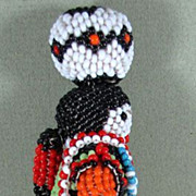 "SALE 5 1/8"" ZUNI Indian Beaded Lady Doll"