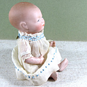 """5"""" All Bisque BYE-LO BABY with Label ~ Grace S. Putnam, Germany 20-12"""