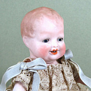 """SALE Cute Little 4 3/4"""" All Bisque BONNIE BABE with Blue Shoes"""