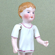 "REDUCED 3 3/8"" Kestner Boy in Molded Night Shirt ~ Sweet Face! ~ Marked ..."