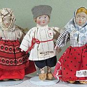 """SALE 3 Little Russian Dolls 4 1/4"""" ~ Group 1"""