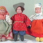 """SALE 3 Little Russian Dolls 4 1/4"""" ~ Group 2"""