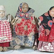 """SALE 3 Little Russian Dolls 4 1/4"""" ~ Group 3"""