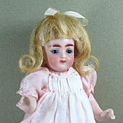 """SALE Lovely 6"""" Kling All Bisque Doll in Excellent Condition"""